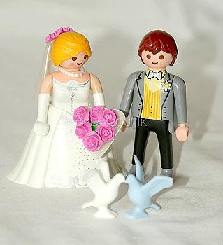 mariés playmobil et colombes