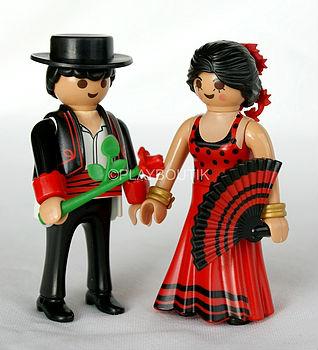playmobil 6845 couple espagnol danseurs de flamenco